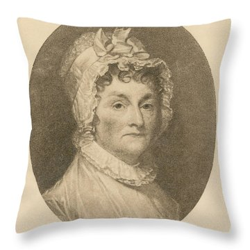 Abigail Adams Throw Pillow by Photo Researchers