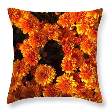 Throw Pillow featuring the photograph Ablaze by Elizabeth Sullivan