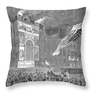 Abolition Of Slavery, 1864 Throw Pillow by Granger