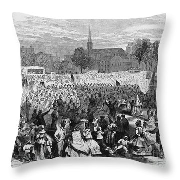 Abolition Of Slavery Throw Pillow by Photo Researchers
