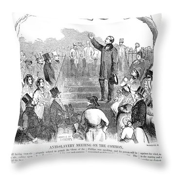 Abolition: Phillips, 1851 Throw Pillow by Granger