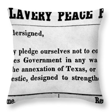 Abolitionist Peace Pledge Throw Pillow by Granger