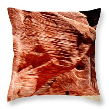 Aboriginal Morning Throw Pillow