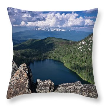 Above Castle Lake Throw Pillow