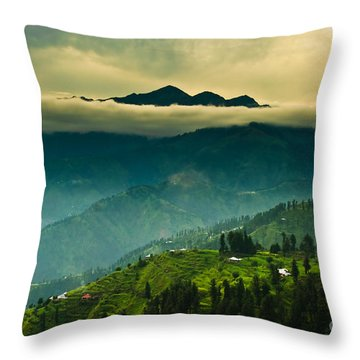 Above Clouds Throw Pillow by Syed Aqueel