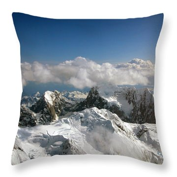 Above Mckinley Throw Pillow