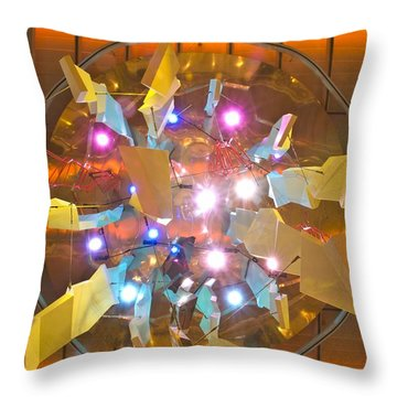 Above The Bridge On Promenade Deck Throw Pillow