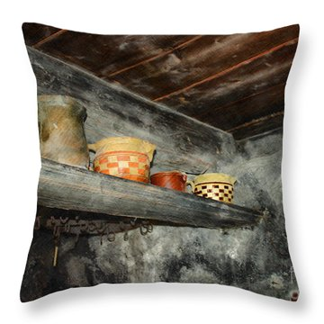 Above The Stove Throw Pillow by Jutta Maria Pusl