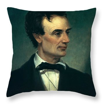 Abraham Lincoln, 16th American President Throw Pillow by Photo Researchers, Inc.