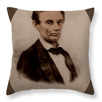 Abraham Lincoln, 16th American President Throw Pillow by Science Source