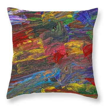 Abstract - Acrylic - Anger Joy Stability Throw Pillow by Mike Savad