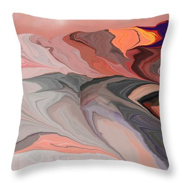 Abstract 012812abc Throw Pillow by David Lane