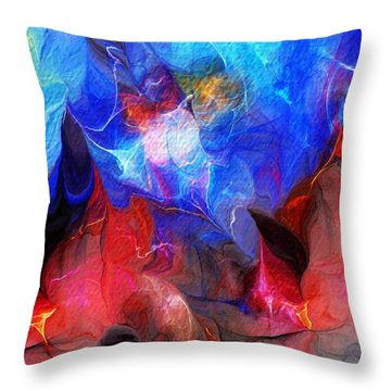 Abstract 032812a Throw Pillow by David Lane
