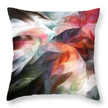 Abstract 062612 Throw Pillow by David Lane