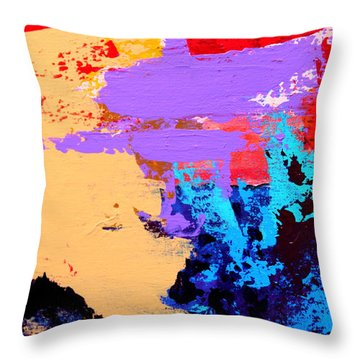 Throw Pillow featuring the painting Abstract 1 by M Diane Bonaparte
