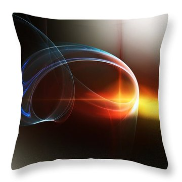 Abstract 101311c Throw Pillow by David Lane