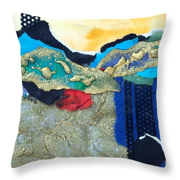 Abstract 2011 No.2  Throw Pillow by Kathy Braud
