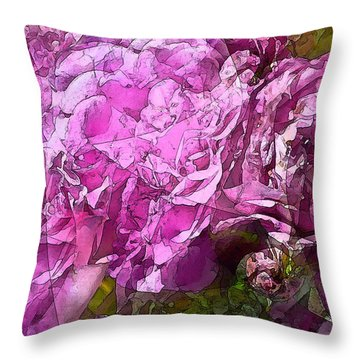 Abstract 274 Throw Pillow by Pamela Cooper
