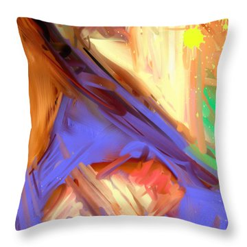 Abstract 4 Throw Pillow by Snake Jagger