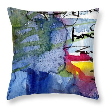 Abstract Alge And Sea Modern Square  Throw Pillow