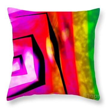 Abstract Angles And Lines Throw Pillow