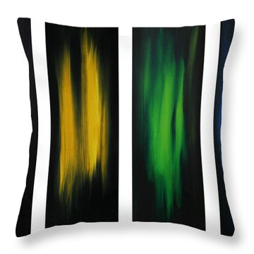 Abstract Art Colorful Original Painting Winter Passion By Madart Throw Pillow by Megan Duncanson