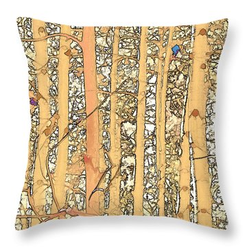 Abstract Aspens Throw Pillow