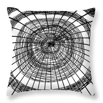 Abstract Bamboo Construction Throw Pillow by Yali Shi