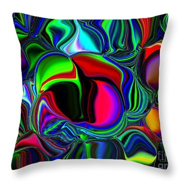 Throw Pillow featuring the digital art Abstract Colors 1 by Greg Moores