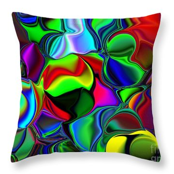 Throw Pillow featuring the digital art Abstract Colors 2 by Greg Moores