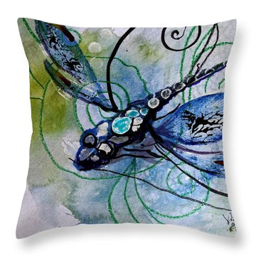 Abstract Dragonfly 10 Throw Pillow by J Vincent Scarpace