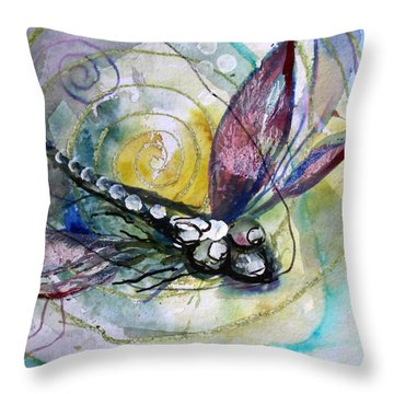 Abstract Dragonfly 11 Throw Pillow by J Vincent Scarpace