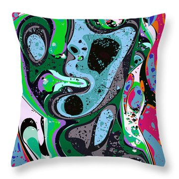 Abstract Face 2 Throw Pillow by Chris Butler