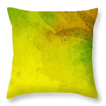 Abstract Floral Throw Pillow by Bonnie Bruno
