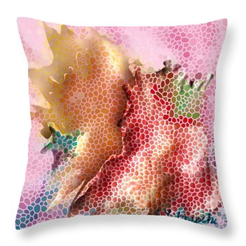 Abstract Floral Painting Throw Pillow