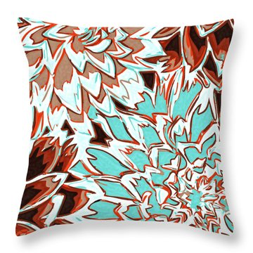 Abstract Flower 17 Throw Pillow by Sumit Mehndiratta