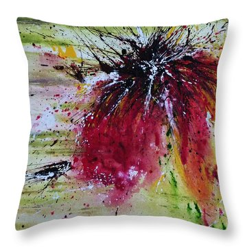 Abstract  Flower Throw Pillow by Ismeta Gruenwald