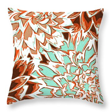 Abstract Flowers 12 Throw Pillow by Sumit Mehndiratta