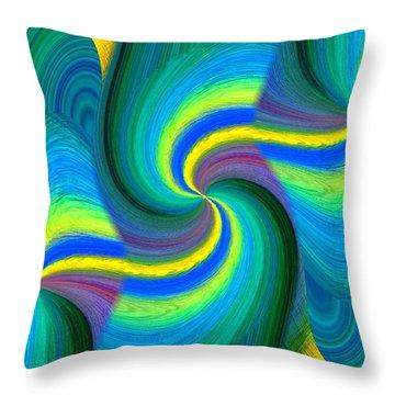 Abstract Fusion 108 Throw Pillow