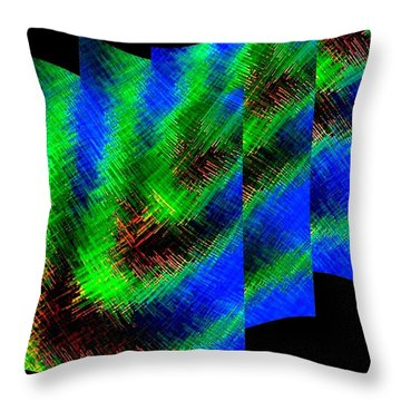 Abstract Fusion 130 Throw Pillow by Will Borden