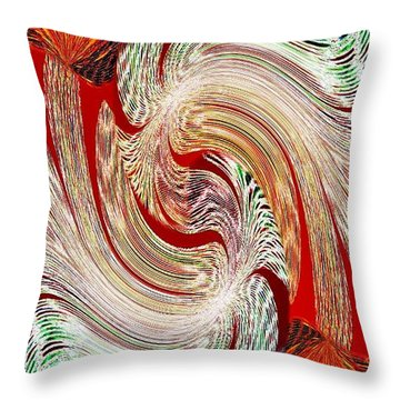 Abstract Fusion 148 Throw Pillow by Will Borden