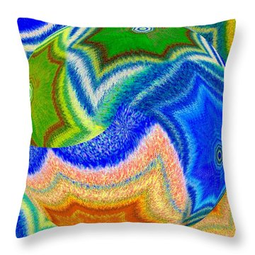 Throw Pillow featuring the digital art Abstract Fusion 155 by Will Borden