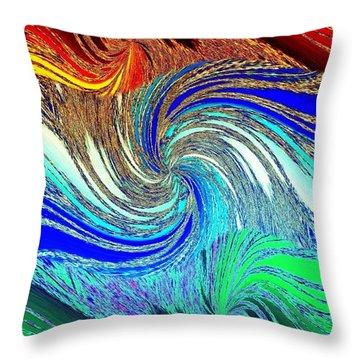 Abstract Fusion 159 Throw Pillow