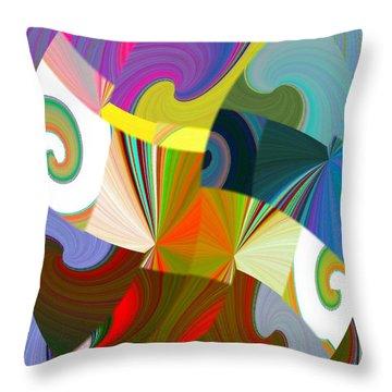 Abstract Fusion 24 Throw Pillow