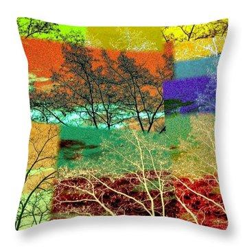 Abstract Fusion 48 Throw Pillow