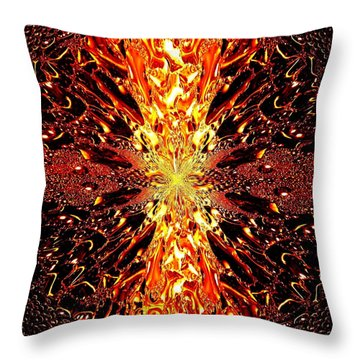 Abstract Fusion 73 Throw Pillow by Will Borden