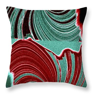 Abstract Fusion 88 Throw Pillow by Will Borden