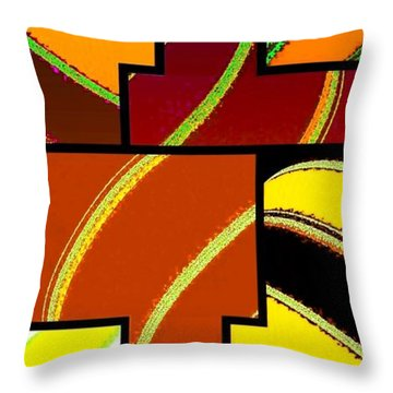 Abstract Fusion 92 Throw Pillow by Will Borden