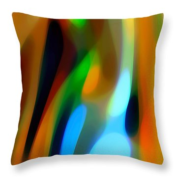 Abstract Garden Light Throw Pillow by Amy Vangsgard