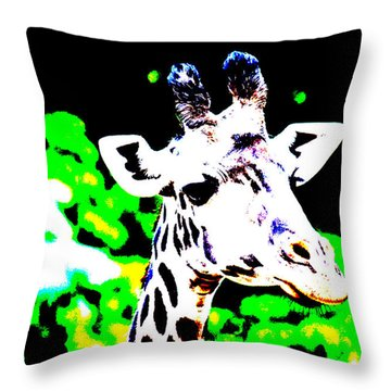 Abstract Giraffe Throw Pillow